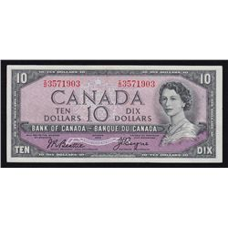 1954 Bank of Canada $10 Devil's Face.