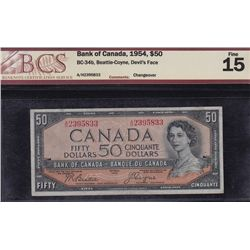 1954 Bank of Canada $50 Devil's Face.