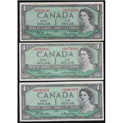 Lot of 7 Bank of Canada Banknotes.