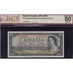 1954 Bank of Canada $20 & 1967 Bank of Canada $1.