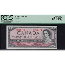 1954 Bank of Canada $1000.