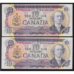 1971 Bank of Canada $10 Lot of Two.