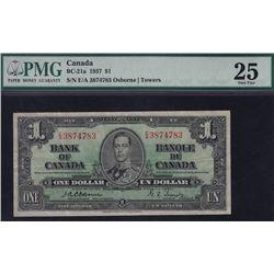 1937 Bank of Canada $1 Radar Note.