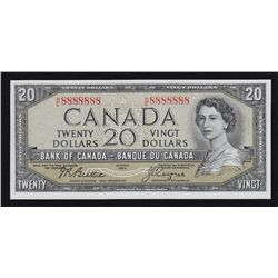 1954 Bank of Canada $20 Solid 8's.