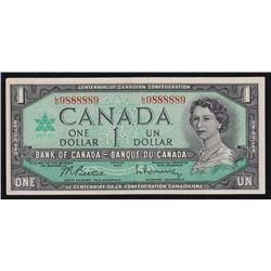 1967 Bank of Canada $1 Two Digit Radar.