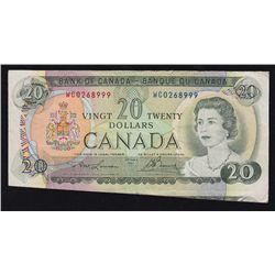 1969 Bank of Canada $20 Cutting Error.