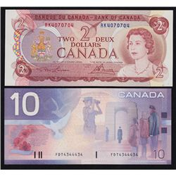 Lot of Two Bank of Canada Radar Notes.