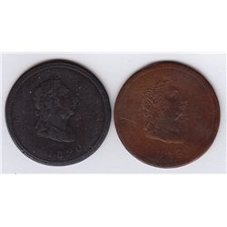 Lot of 2 Lower Canada Tokens.