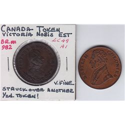 Lot of 2 Colonial Tokens.