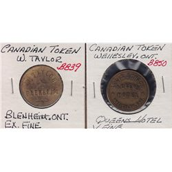 Lot of 2 Post Confederation Tokens.