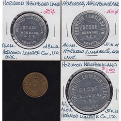 Lot of 4 Newfoundland Trade Tokens.