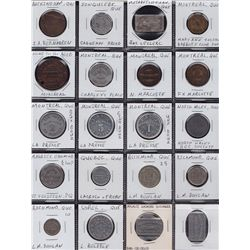 Lot of 31 Quebec Tokens.