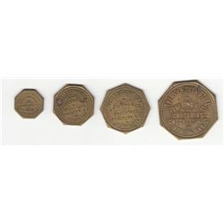 Lot of 5 Merchant Tokens.