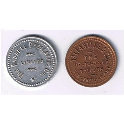 Lot of 2 Ontario Tokens.