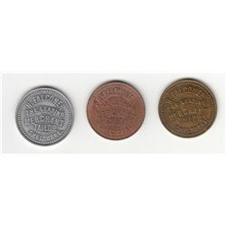 Lot of 3 McColl Listed Tokens.