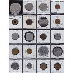 Lot of 35 Alberta Trade Tokens.