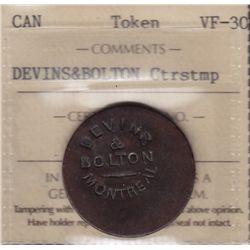 Devins & Boulton Countermarked Token.