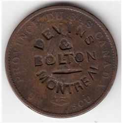 Lot of 3 Devins & Bolton Countermarked Canadian Tokens.