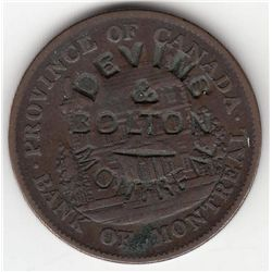 Lot of 2 Devins & Bolton Countermarked Canadian tokens.