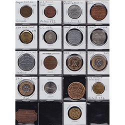 Lot of 18 Numismatist & Coin Shop Tokens.