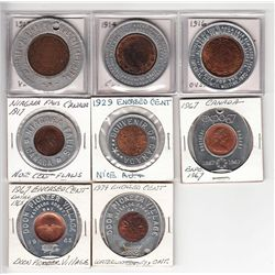 Lot of 8 Encased Coins.