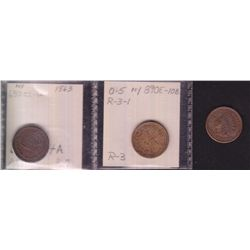Lot of 3 NY State Civil War Tokens.