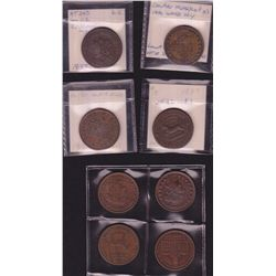Lot of 8 Hard Times Tokens.
