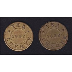 Lot of Two Gass Tea Tokens