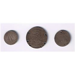 Lot of 3 Love Tokens.