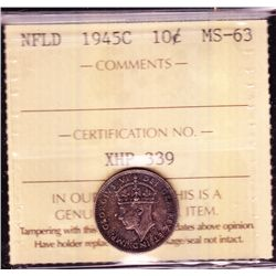 1945C Newfoundland Ten Cent