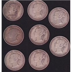 Lot of 8 Newfoundland Fifty Cents