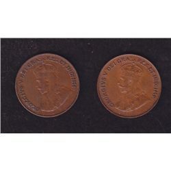 Lot of 2 Key Date One Cents