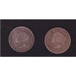 Lot of 2 Five Cents