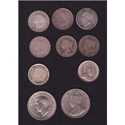 Lot of 10 Five Cent