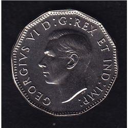 1947 Specimen Maple Leaf Five Cent.