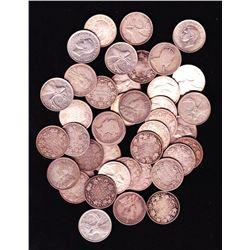 Lot of 42 Silver Twenty Five Cents