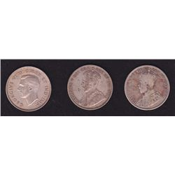 Lot of 3 Fifty Cents