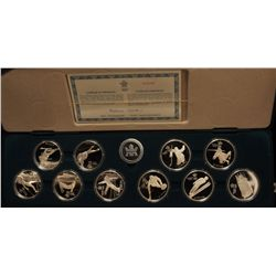 1988 Calgary Olympic $20 Proof Silver Set