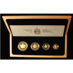 1989 Proof Gold Maple Leaf Set