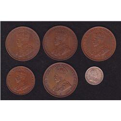 Lot of 6 Australian Coins