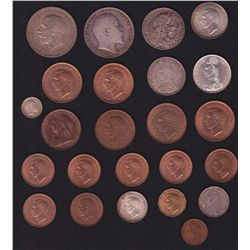 Lot of 24 Great Britian Coins