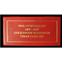 1989 Gold Proof Sovereign 3 Coin Set