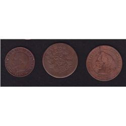 Lot of 3 Coins from France