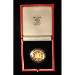 1986 Hong Kong $1000 Proof Gold Coin