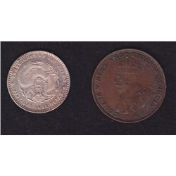 Lot of 2 Foreign Coins