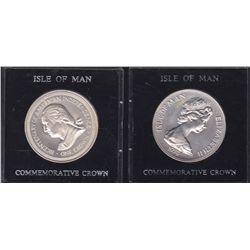 Lot of 2 Isle of Man Commemerative Crowns