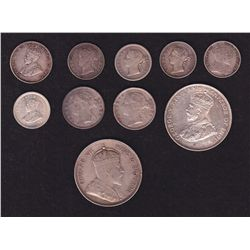 Lot of 10 Straight Settlement Coins