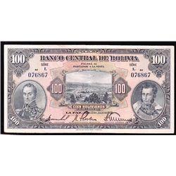 1928 Banco Central de Bolivia 100 Bolivianos