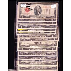 Nice lot of 34 USA $2 Notes