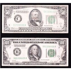 Lot of 2 High Value FRN's - USA.